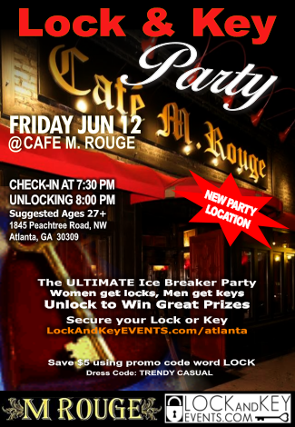 Lock And Key at Cafe M. Rouge Bar & Bistro Buckhead
