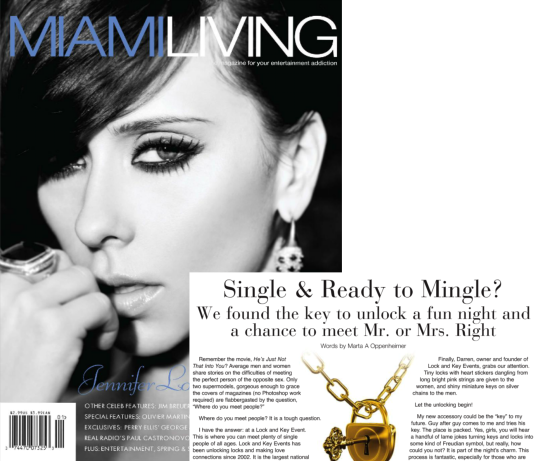 Miami Living article - Single & Ready to Mingle?